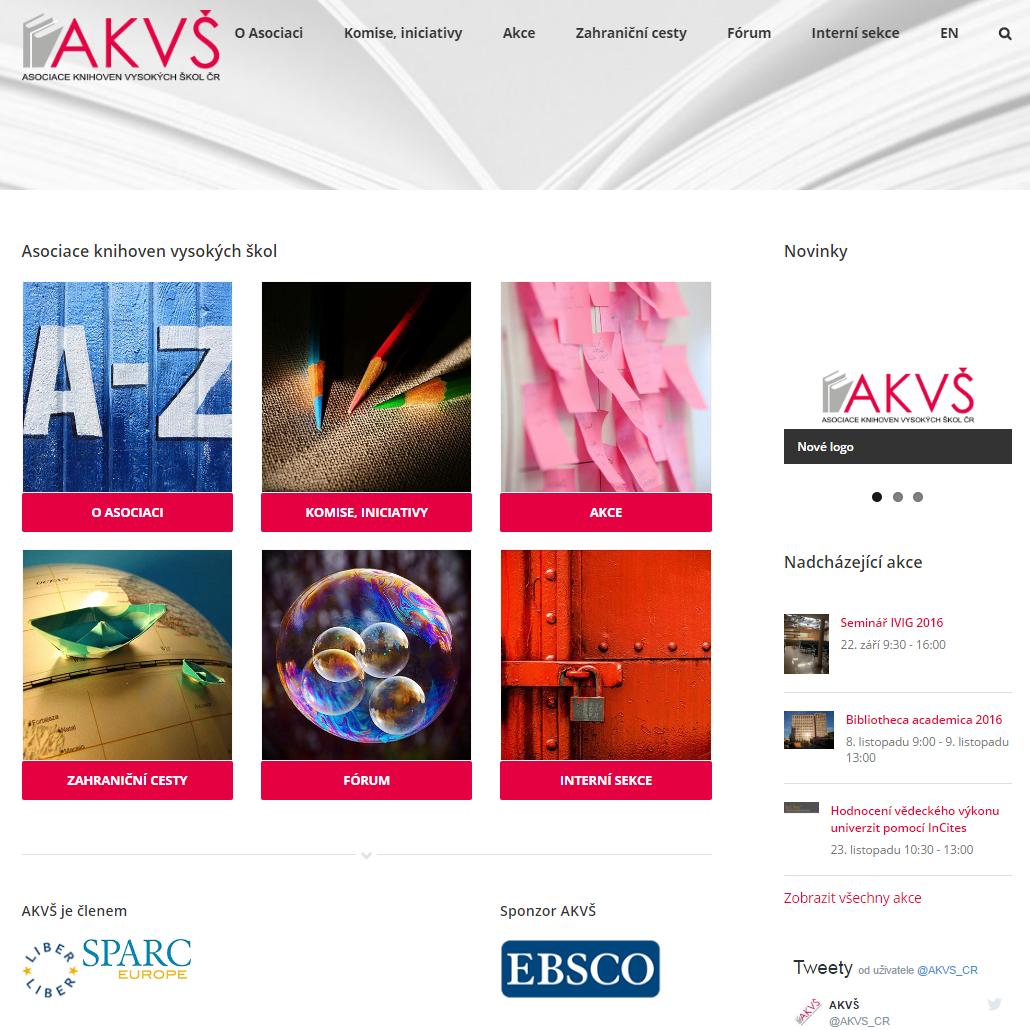 Nový web AKVŠ